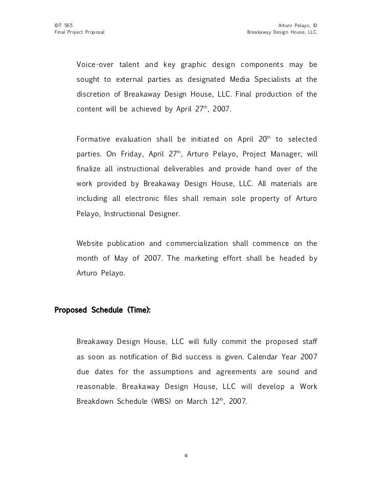 Great Sample Project Proposal Design Document  Graphic Design Proposal Example