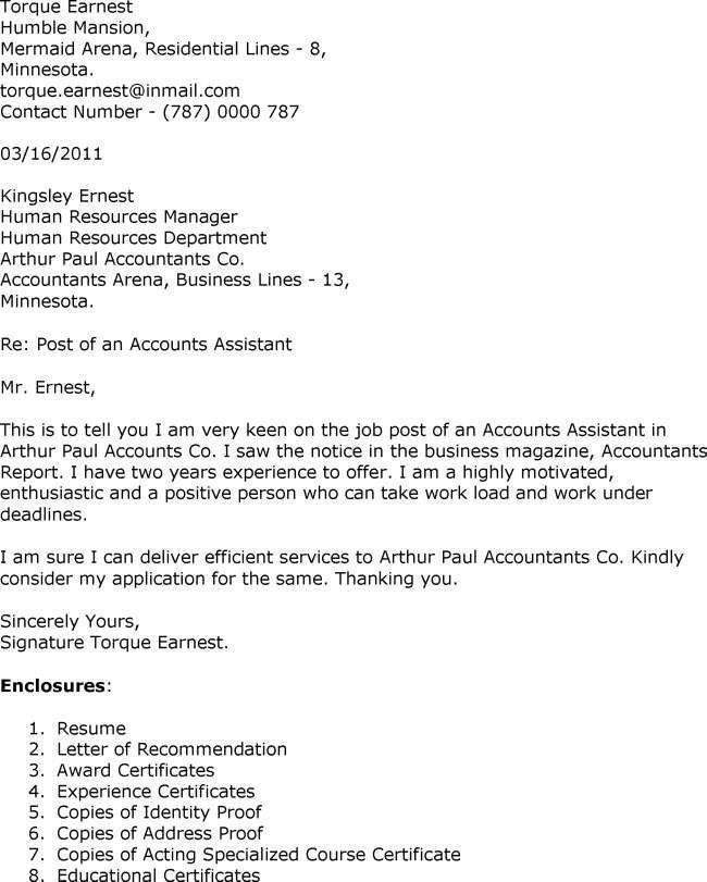 Great Accounting Assistant Cover Letter Sample 17 For Your Best ...
