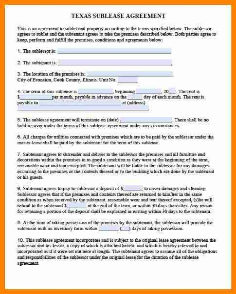 8+ sublet agreement format | exclusive resumes