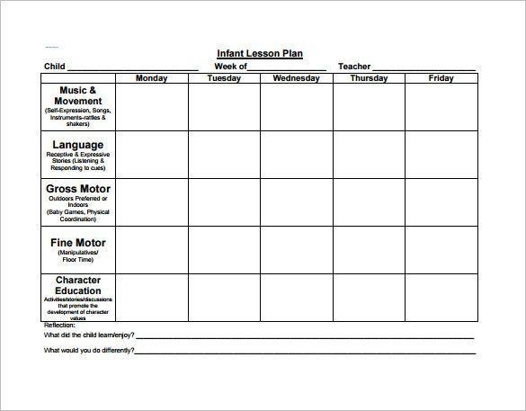 Preschool Lesson Plan Template - 21+ Free Word, Excel, PDF Format ...