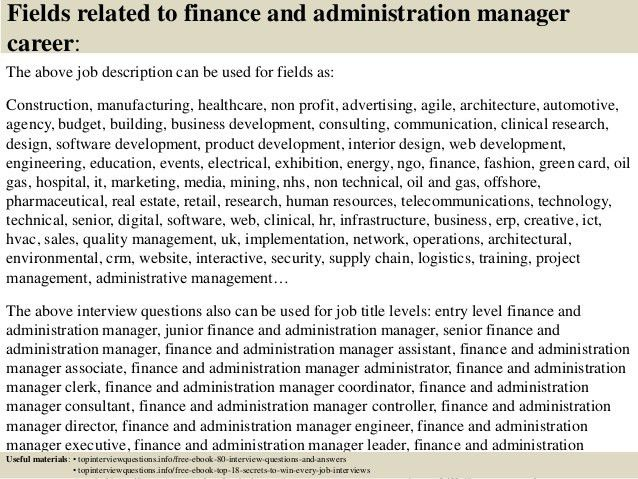 Financial Manager Job Description. Finance Manager Ngo Recruitment ...