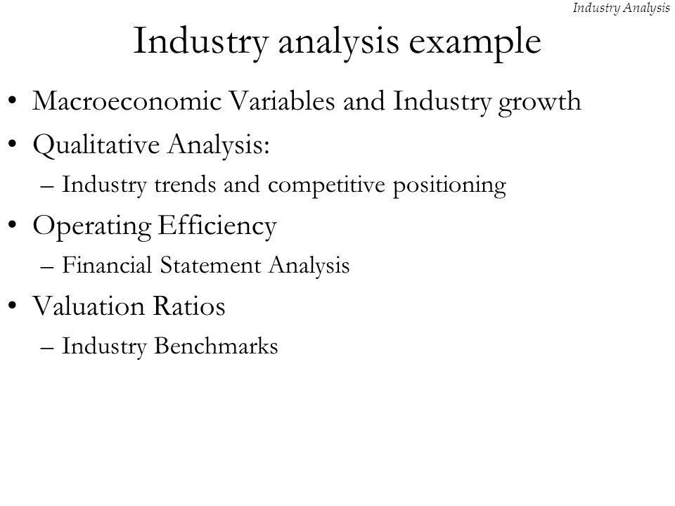 Industry Analysis. - ppt video online download