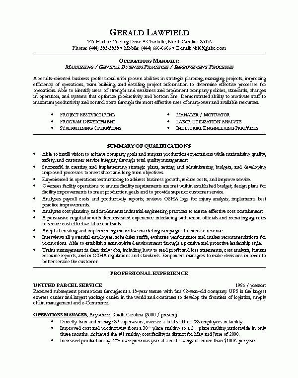 Manager Resume Examples | The Best Resume