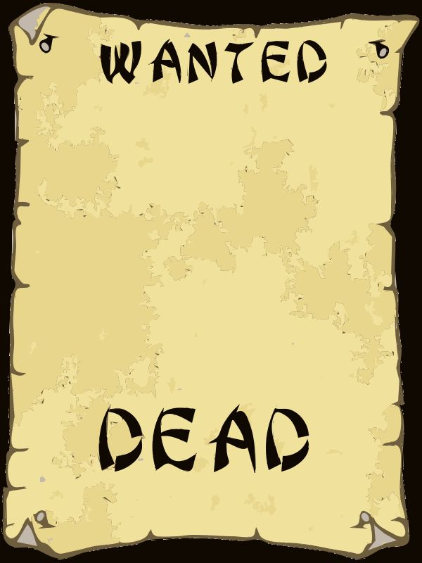 9 Best Images of Wanted Poster Clip Art - Blank Most Wanted Poster ...