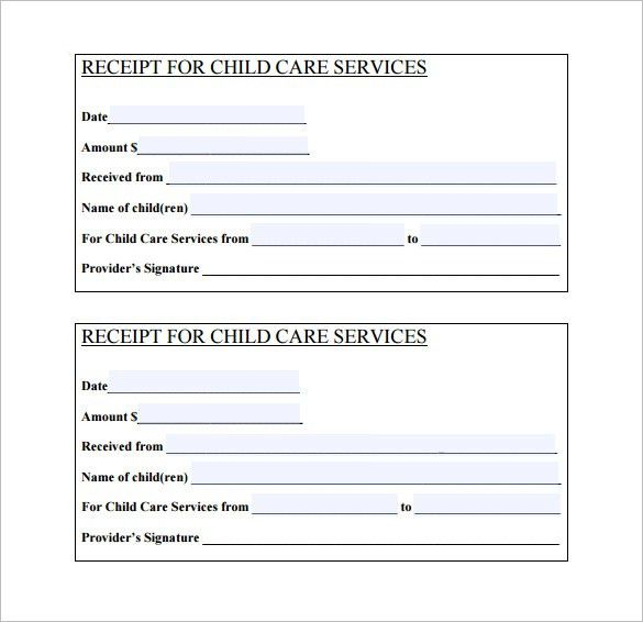 Daycare Receipt Template – 6+ Free Sample, Example, Format ...
