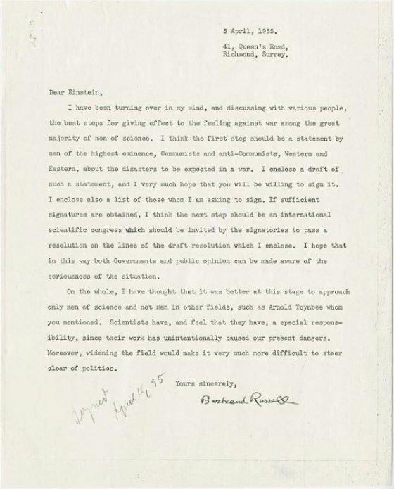 11 Amazing Letters from Nobel Laureates | Mental Floss