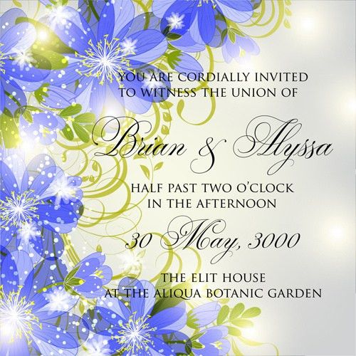 Flower birthday invitation template free vector download (22,780 ...