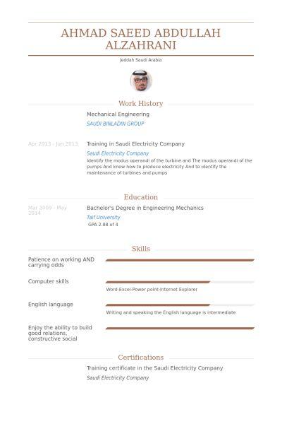Mechanical Engineer Resume samples - VisualCV resume samples database