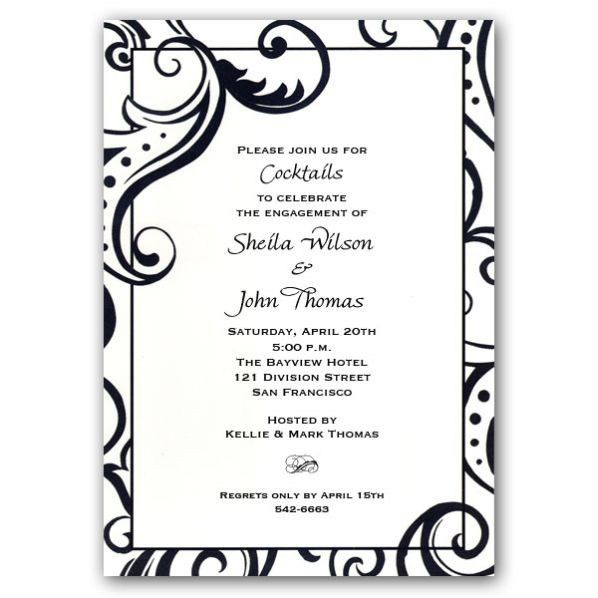 White Party Invitation Template. 25 best party invitation ...