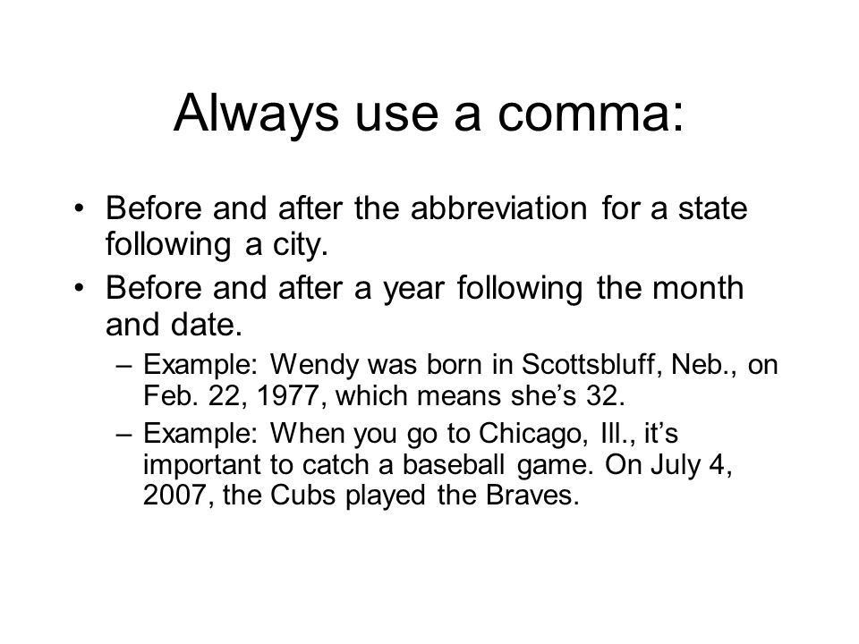 Commas. Always use a comma when: Your quotation ends, and you need ...
