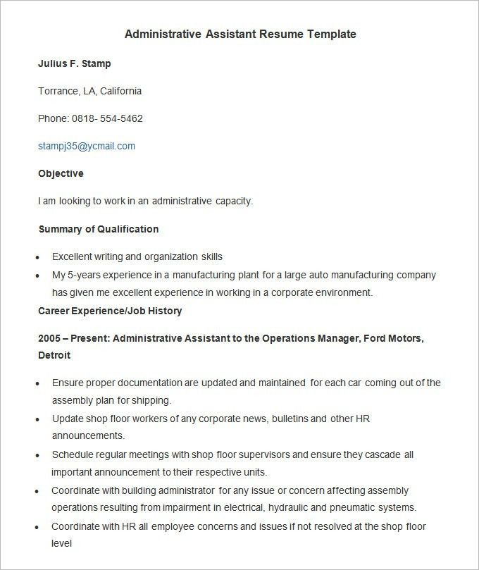 10 administrative assistant resume format tips writing resume ...