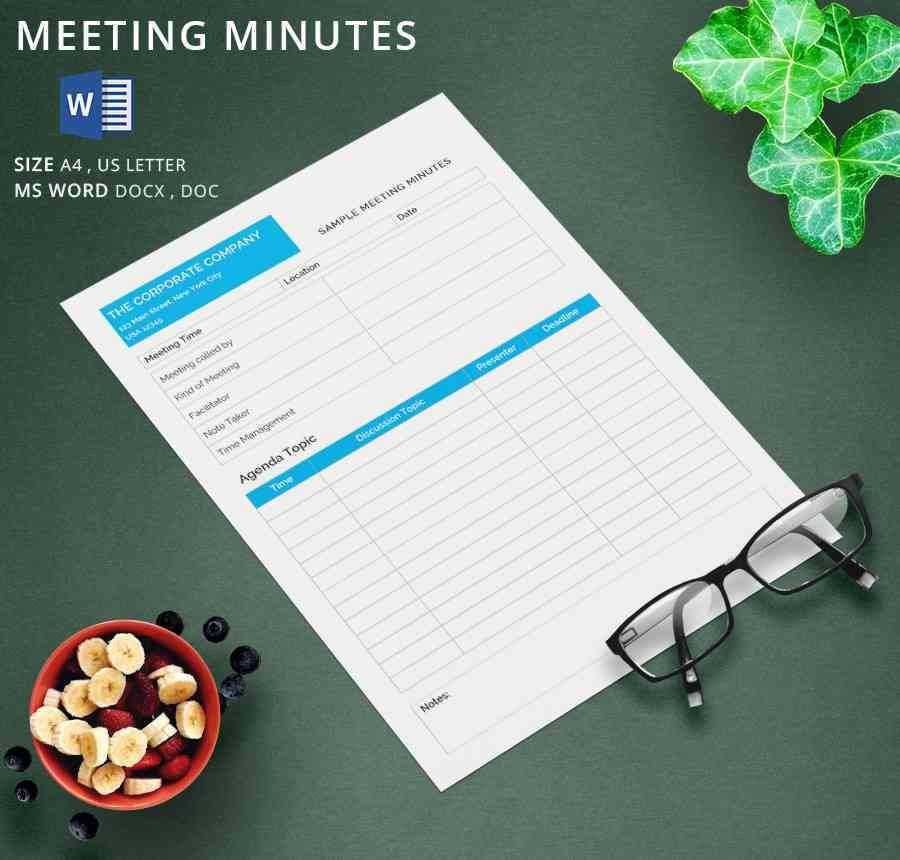 13+ Meeting Minutes Template - Free Samples, Examples Format ...