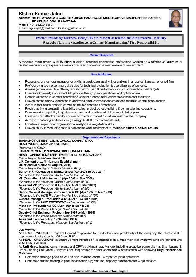 Resume - Kishor Kumar Jalori new