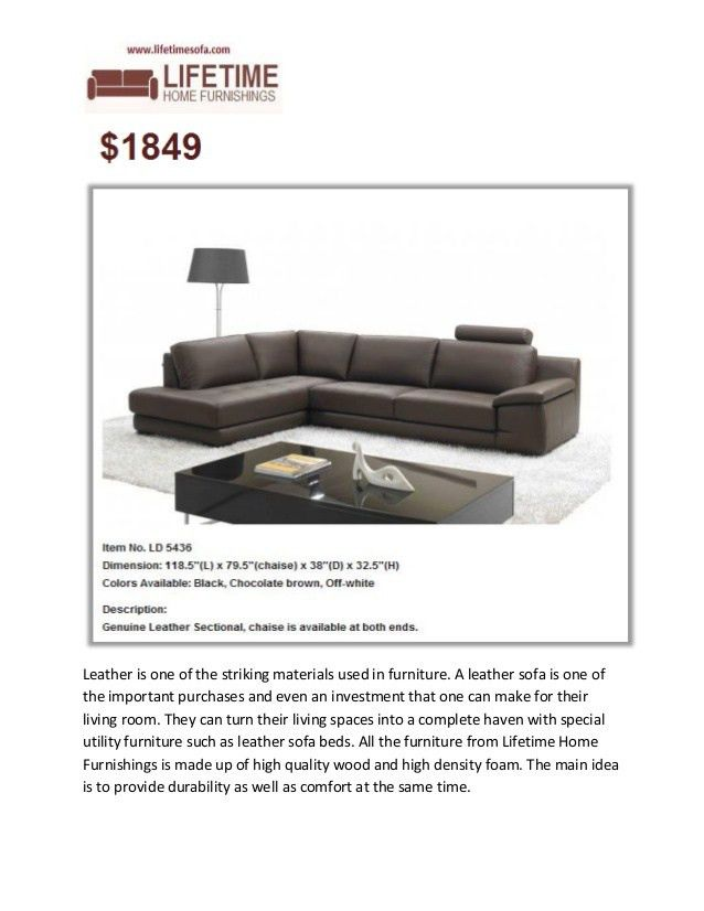 Lifetime Home Furnishings- Leather Furniture Specialist Vancouver