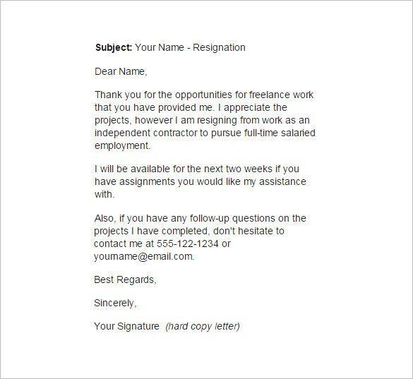 Employee Resignation Letter. Resignation Letter For Relocation ...