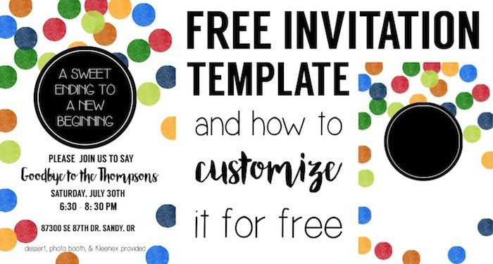 Colorful Party Invitation Free Template - Paper Trail Design
