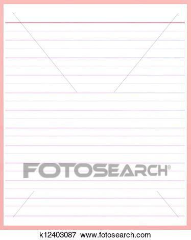 Stock Illustration of A Sheet of Pink Color Lined Paper k12403087 ...