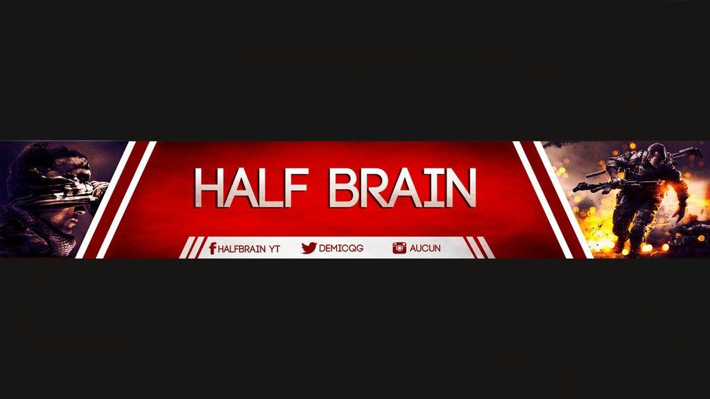 youtube banner template HBQG by Oxirixy on DeviantArt