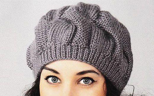 Вязание спицами объемная шапка с описанием