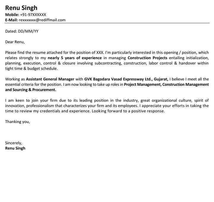 Job Application Letter Format | Job Application Mail Sample ...