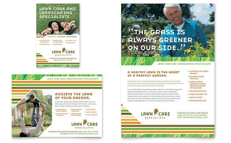 Lawn Care & Mowing Flyer & Ad Template - Word & Publisher