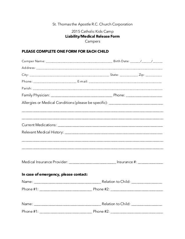 Liability Waiver Form. Get Liability Release Waiver Form Forms ...