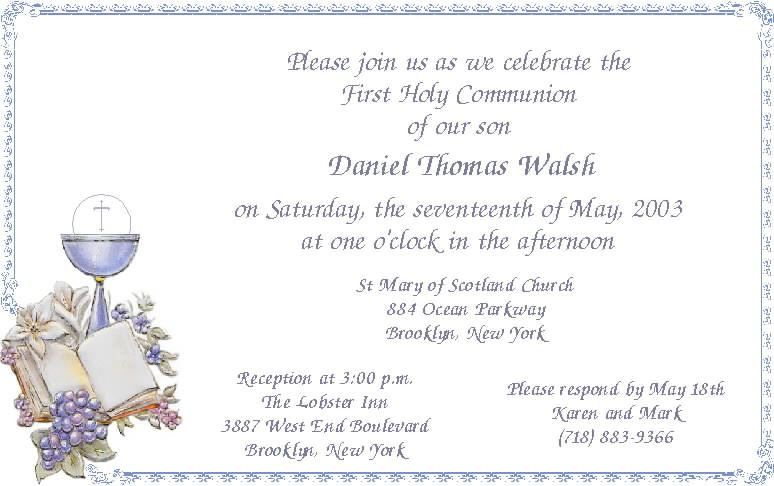 best modern first communion invitation cards sample template ...