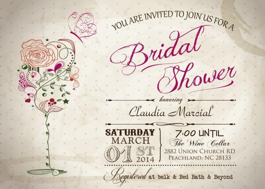 Wine Bridal Shower Invitations | badbrya.com
