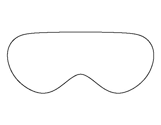 Eye mask pattern. Use the printable outline for crafts, creating ...