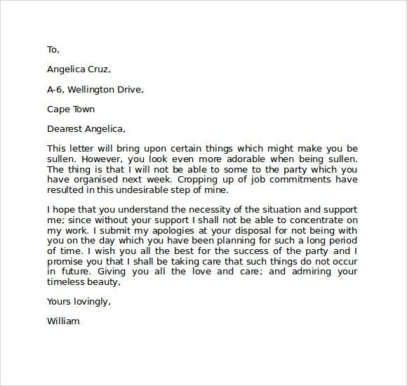 Apology Letter To Girlfriend | articleezinedirectory