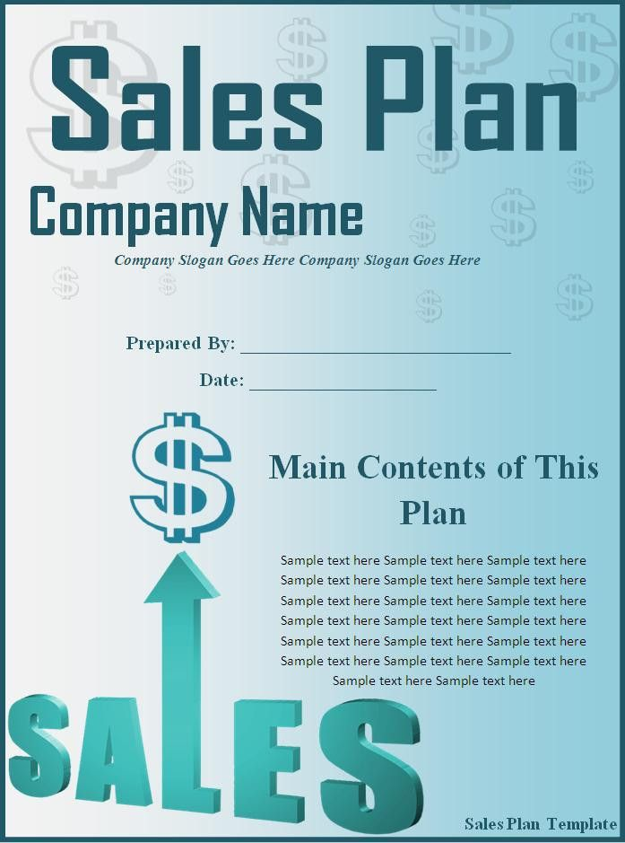 Sales Plan Template - Word Excel Formats