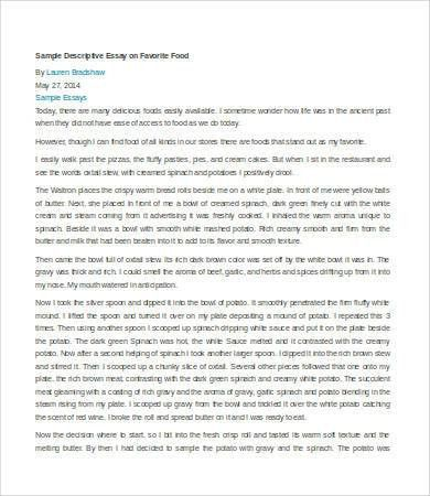 Descriptive Essay – 6+ Free Samples, Examples, Format Download ...