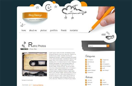 Free Blog Html Templates | Template Design