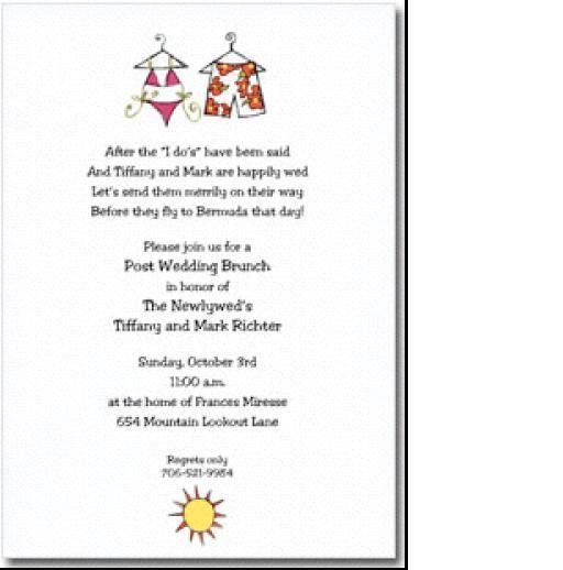 Brunch Invitation Wording