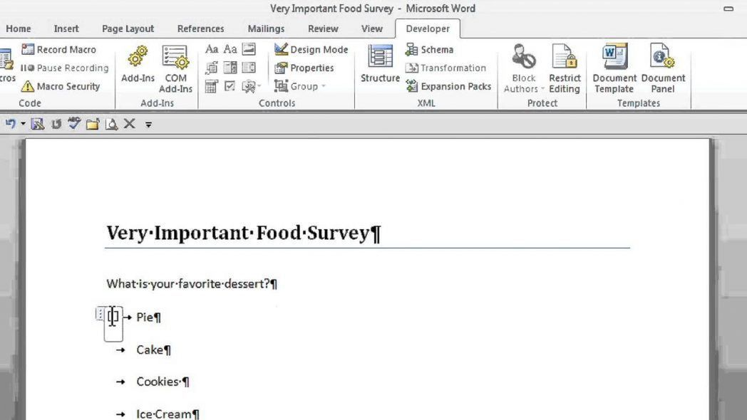 Free Microsoft Word Survey Template Customer Feedback Question ...