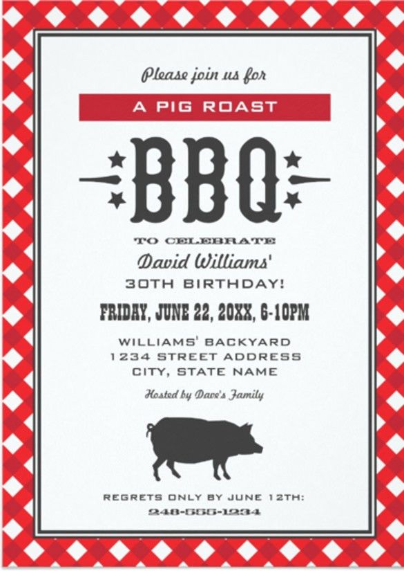 20+ Barbeque Invitation Templates – Free Sample, Example, Format ...
