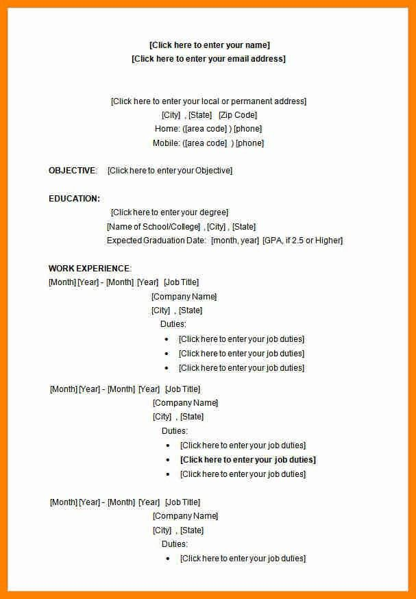 5+ college student resume template microsoft word   catering resume