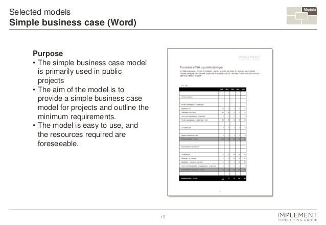 Business Case. Plug and Play Concept