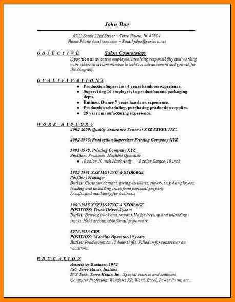8+ cv simple sample for beautician | cashier resumes