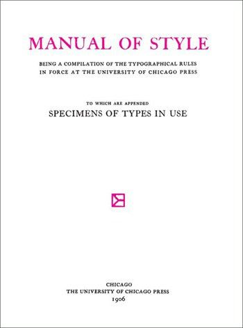 Chicago Manual of Style, 16th Edition – Glyphic