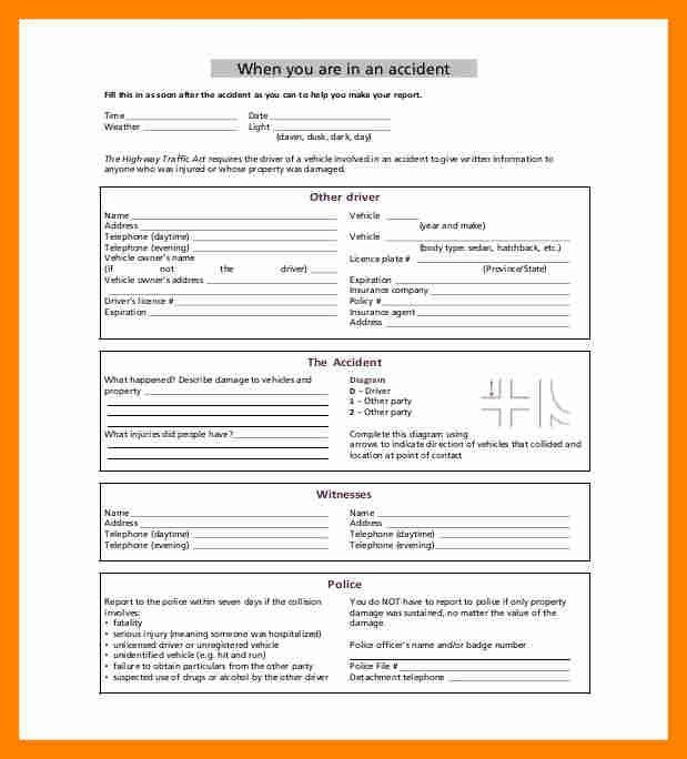 12+ sample accident report | resume sections