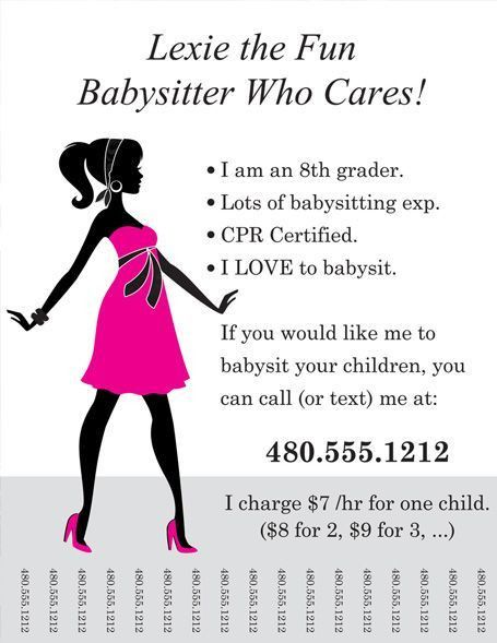 Best 25+ Babysitting flyers ideas on Pinterest | Babysitting ...