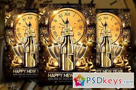 New Year Flyer Template V2 95598 » Free Download Photoshop Vector ...