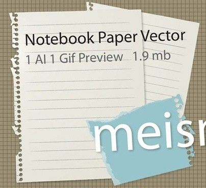 Notebook paper free vector download (4,699 Free vector) for ...
