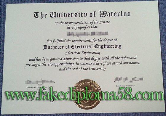 buy University of Waterloo degree, UW bachelor degree_fakediploma58