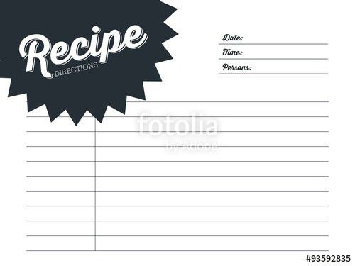 Smoothie recipe card with a blender. Template. Vector design ...