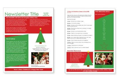 WordDraw.com - Free Christmas Newsletter Templates