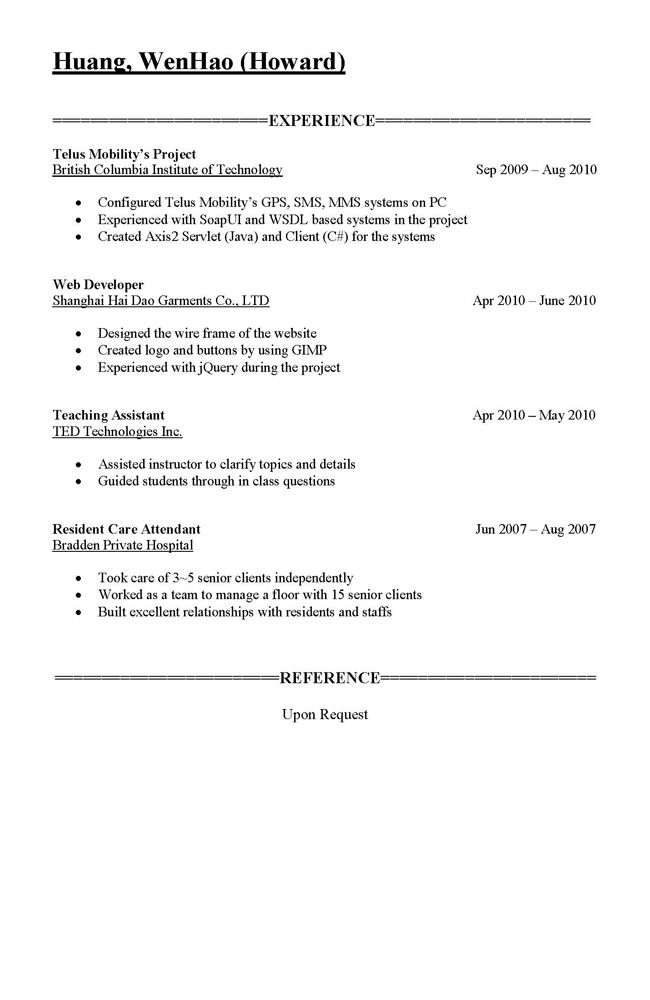 Parts Of A Resume | Best Template Collection