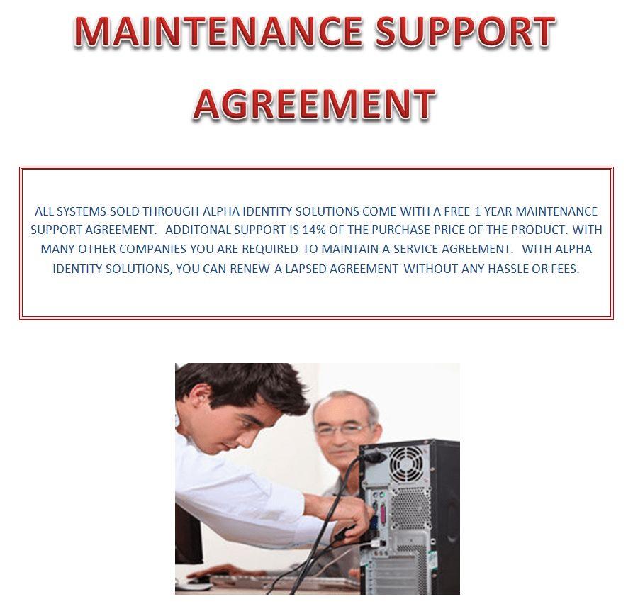 Livescan - Maintenance Support Agreement -