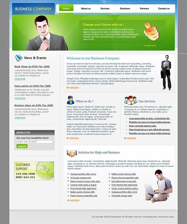 Website templates simple for business companies